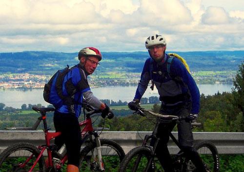der 708 m hohe Schiener Berg oberhalb von Radolfszell