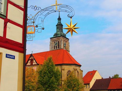 die mächtige protestantische Kirche in Königsberg