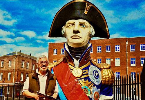 der einäugige Lord Nelson starb in der Schlacht am Kap Trafalgar