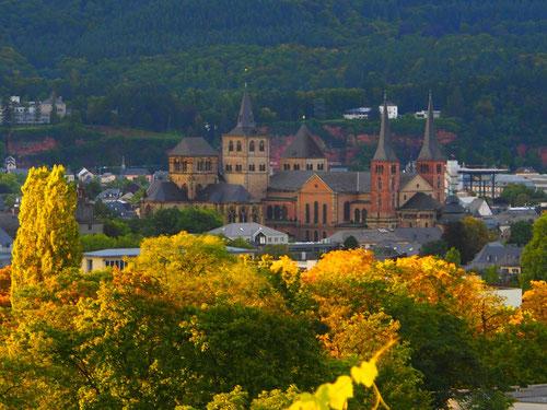 die immer wieder umgestaltete Altstadt-Silouette von Trier