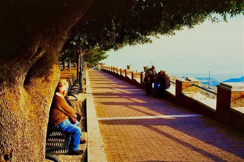 der Panoramablick hinunter auf die Adria-Küste war einmalig