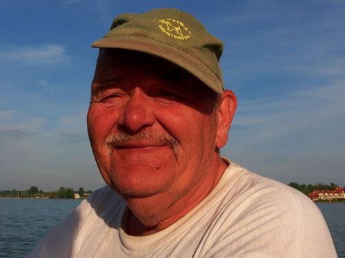 ein Hobby-Fischer in Balatonelle