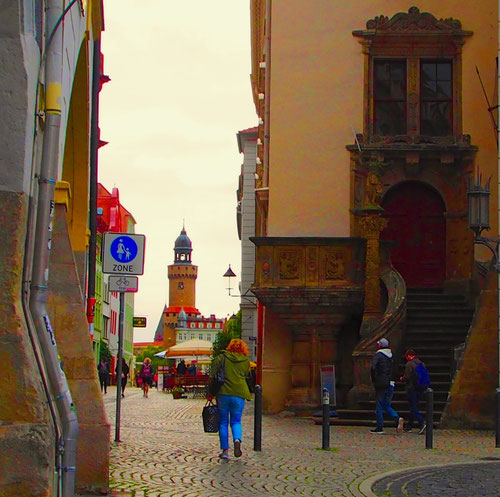 Blick vom Untermarkt in die Brüderstrasse