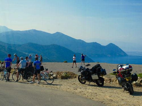 die Westküste von Korsika ein Eldorado für Radler und Biker