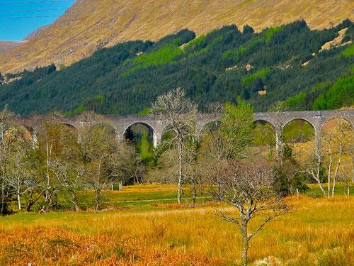 der legendäre Viadukt vor Glenfinnan