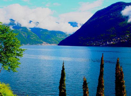 schöner Blick in Richtung Norden - nach Santa Maria Rezzonico