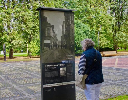 dort wo früher die Stadt stand sorgen Info-Tafeln für eine gewisse Orientierung