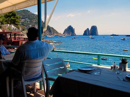 der Panorama-Blick vom Ristorante Ciro immer wieder fasziniert