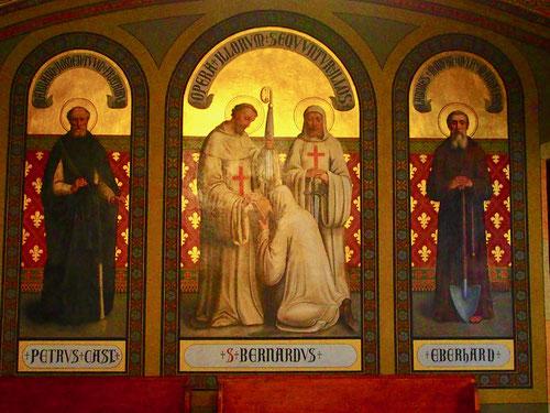 eindrucksvoll das dreiteilige Altarbild aus dem 14. Jhd.