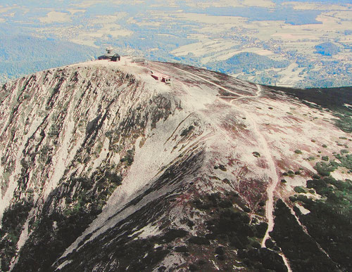 die Schneekoppe ein imposanter Bergrücken