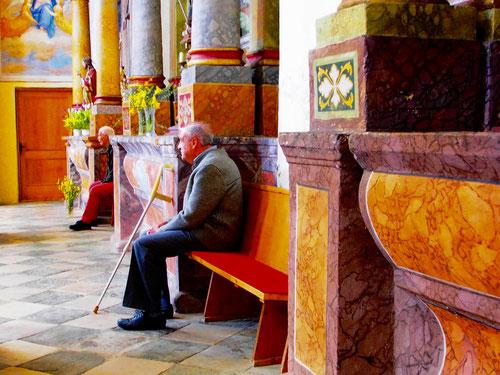 andächtig lauschte man der Predikt - in deutsch und slowenisch
