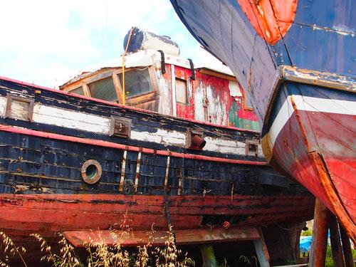 auch Boote werden alt und gehen in Rente