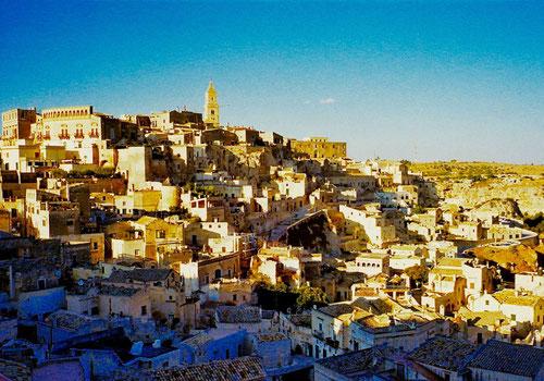 die Felsen-Wohnungen (di Sassi) von Matera - UNESCO - Weltkulturerbe