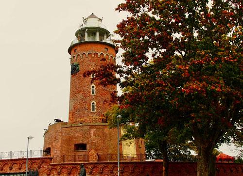 der historischen Leuchtturm von Kolberg