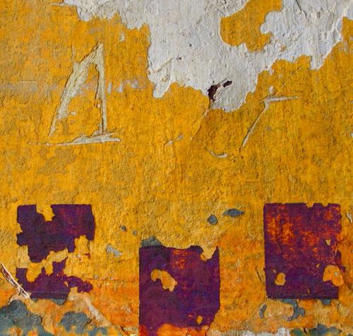 eindrucksvoll Komposition in gelb und purpur