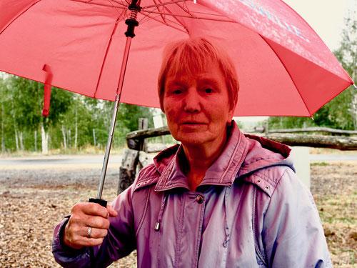 eine engagierte Lehrerin erklärt den Wandel der Landschaft