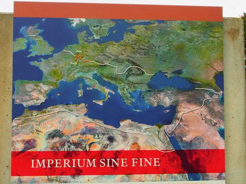 die befestigten Grenzen des römischen Weltreiches