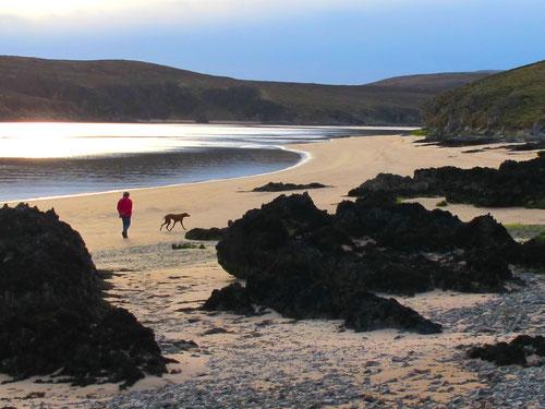 spektauläre Abend-Spaziergang an der Nordspitze von Schottland