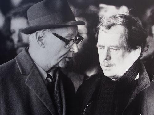 Alexander Dubcek und Vaclav Havel zwei bedeutende Persönlichkeiten