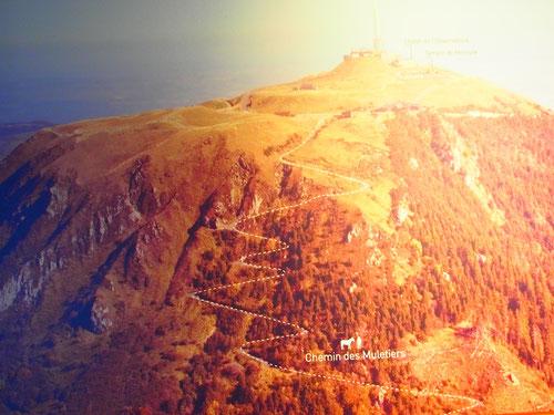 die Aufstiegsroute zum Gipfel des Puy de Dome