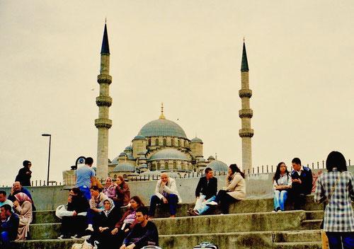 die Stadt-Silouette des alten Istanbul hatte sich nicht verändert