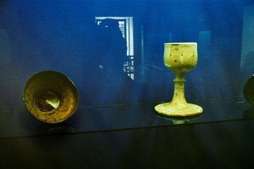 nur ein paar Exponate der frühen Iznik-Keramik-Kunst waren zu sehen
