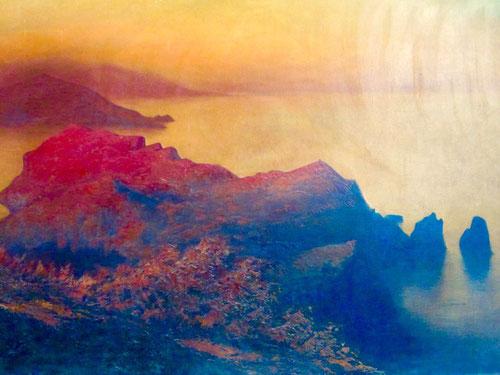 der Monte Tiberios im glühenden Abendlicht - Diefenbach-Gemälde