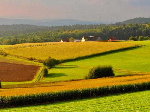 Traumhafte Landschaften bei Schierz bei Fulda