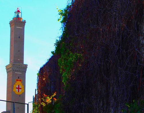 der historische Leuchtturm - toll, aber schwer zu photographieren
