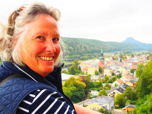 die Aussicht über die Stadt und die Elbe waren gewaltig