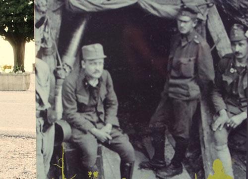 die österreichischen Soldaten waren immer in der Unterzahl