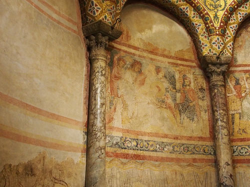 im Dom von Triest frühe romansiche Darstellungen der Kirchengeschichte