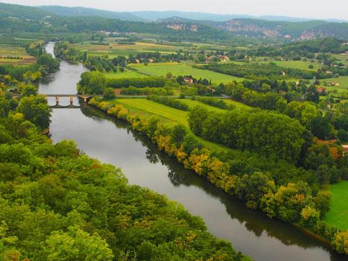 """der Ausblick auf die Dordogne vom """"Belvedere de la Barre"""""""