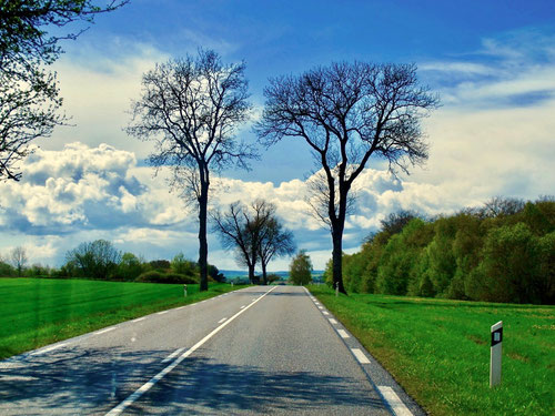 freie Landschaften entlang der Vogesen