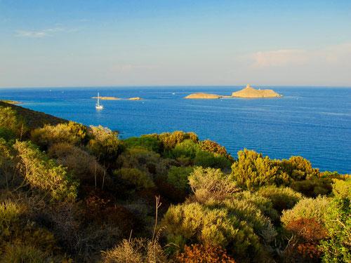 dann dieser Ausblick  die Insel Ile de la Giraglia