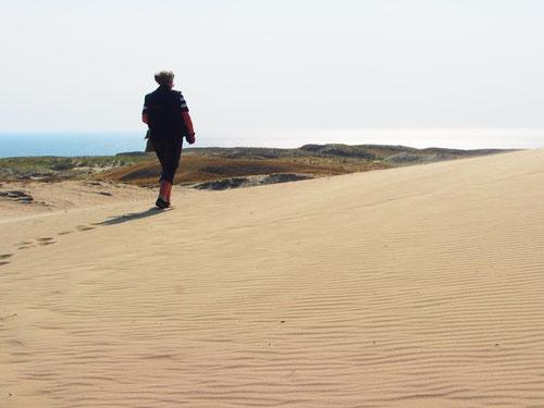 tief beeindruckt wanderte Hanni durch den unberührten Sand