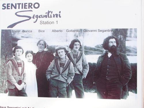 Familie Segatini in Maloja