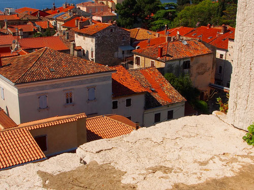 Blick aus dem Turmfenster auf die Dächer der Altstadt