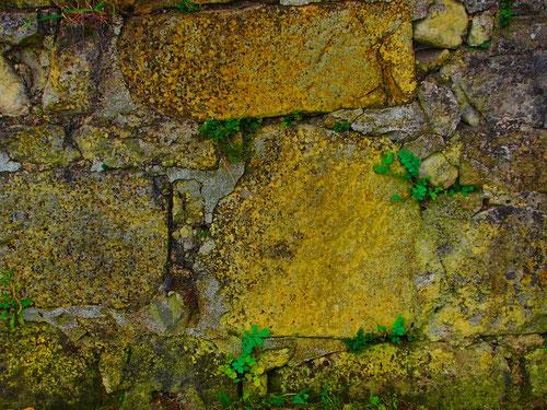 die Struktur des Mauerwerks erählt eine intensive Geschichte