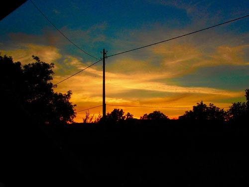 die Sonne unser ständiger Begleiter verabschiedet sich erneut sehr spektakulär