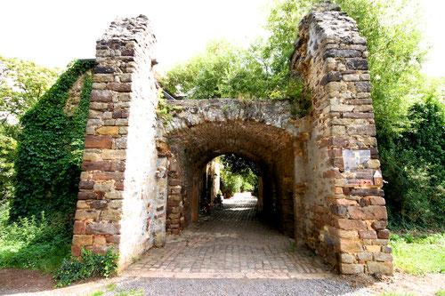Ankunft in der Burg Battenberg( besser was davon noch übrig ist! Heute ein wunderschönes Esslokal & ein toller Aussichtsplatz!