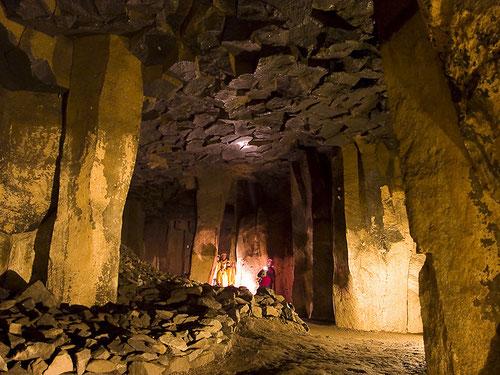 Hier kann man die Grösse der Höhlen erkennen!
