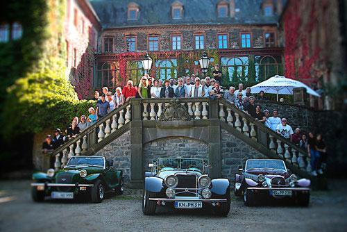 Fast alle Teilnehmer der Hessentour in Schloss Laubach