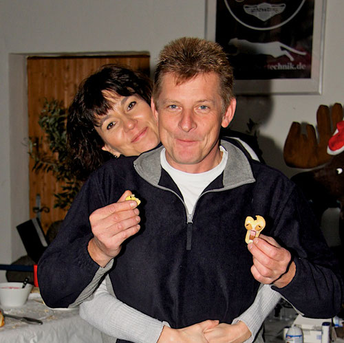 Christiane & Dietmar und Plätzchen von Geli! Lecker diese Christiane und natürlich auch die Plätzchen!