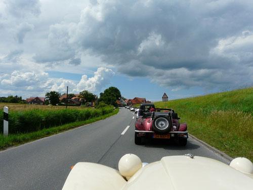 auf dem Weg nach Neßmersiel.....das Wetter verändert sich!