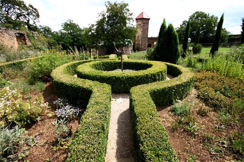 Der Kräutergarten! Im Hintergrund die Bastion des Wachtturmes!