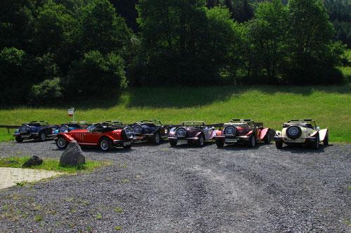 Zusammentreffen Parkplatz in Hönningen