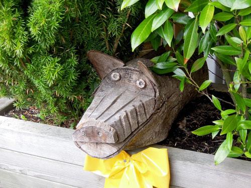 Schwein gehabt: heute könnt Ihr mal draußen sitzen!