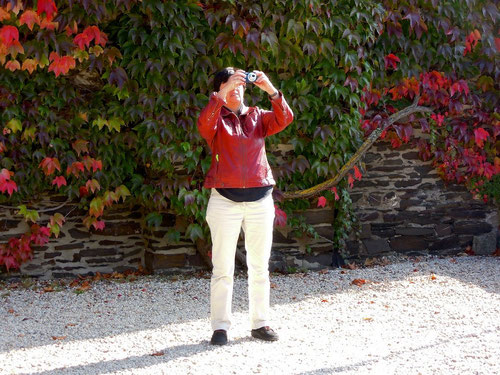 Barbara im Rausch....................der Farben!   Indian Summer in der Eifel! Übrigens: Neue Jacke im Pantherfarbton!