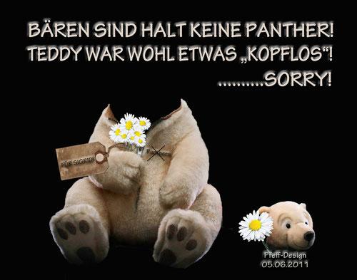 BILD IST NUR FÜR SIGRID!!!!!!! Mit TEDDY ist der Koch gemeint!